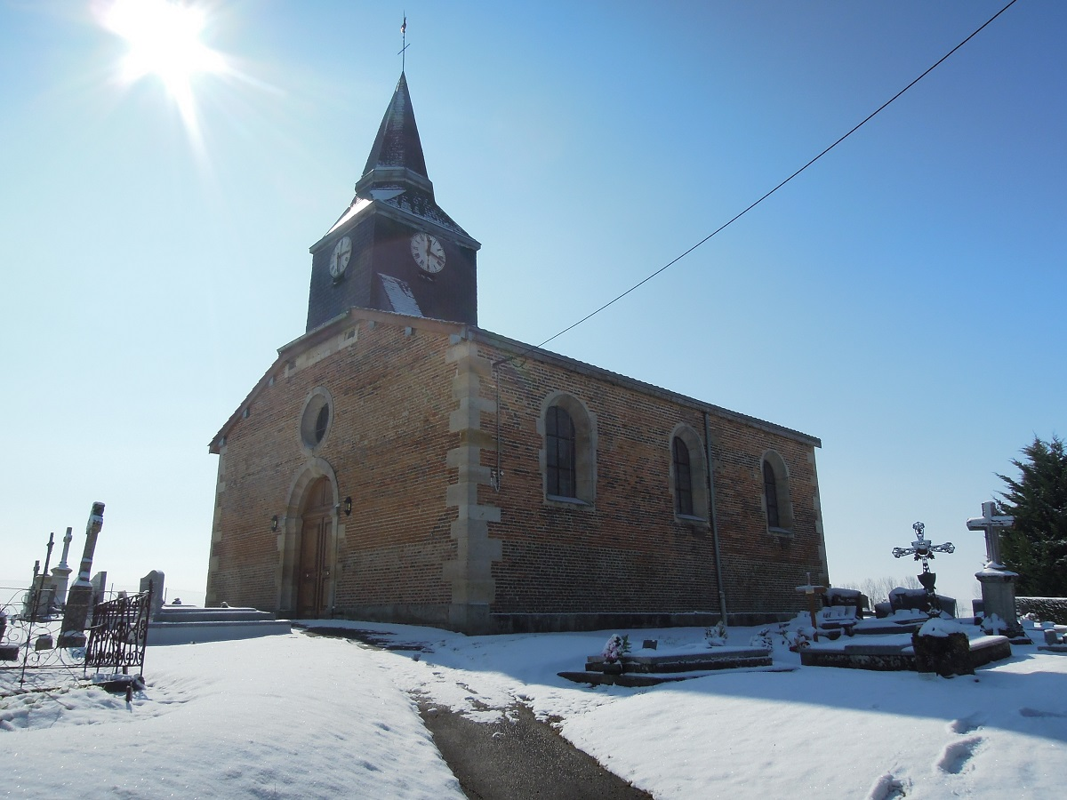 Surroundings, Ante-Boncourt, the castle and village chapel, where Adelbert von Chamisso was baptised, 13-3-013